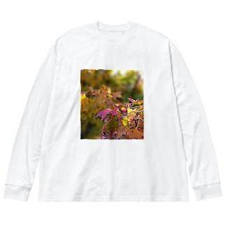 もみじちゃん Big silhouette long sleeve T-shirts