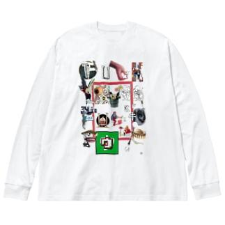 F**k you,f**kin` f**k! Big silhouette long sleeve T-shirts