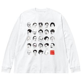 日本の文豪 Big silhouette long sleeve T-shirts