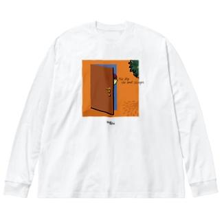 匂いの変わる日 Big silhouette long sleeve T-shirts