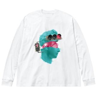 カズシフジイのK collage01 Big silhouette long sleeve T-shirts