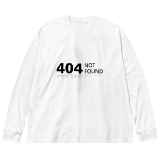 404 NOT found Big silhouette long sleeve T-shirts