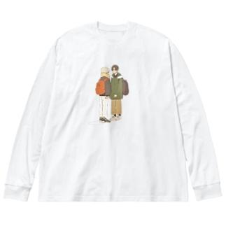 パーソナル   スペース Big silhouette long sleeve T-shirts