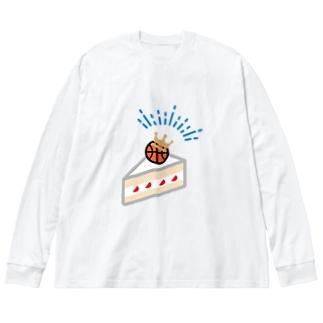 バスケーキ Big silhouette long sleeve T-shirts