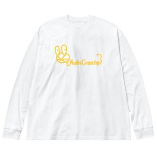 MultiCreateロゴ Big silhouette long sleeve T-shirts