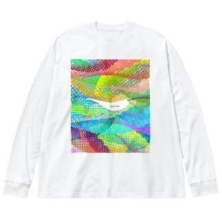 しっぽ探し Big Long Sleeve T-shirt