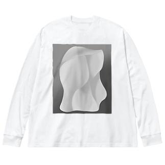 原石 Big silhouette long sleeve T-shirts