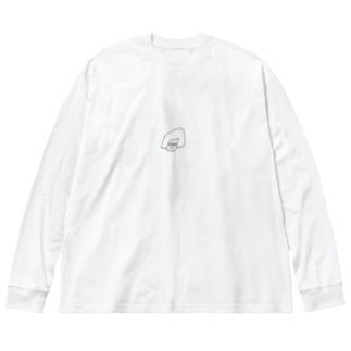 まめのまめ Big silhouette long sleeve T-shirts