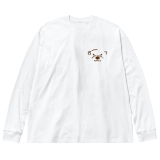 コツメちゃん Big silhouette long sleeve T-shirts