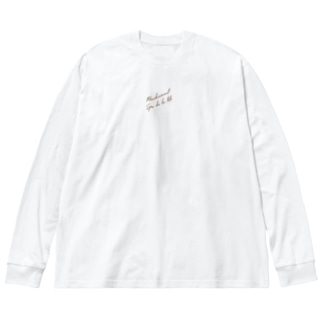 スクリプトメッセージ Big silhouette long sleeve T-shirts