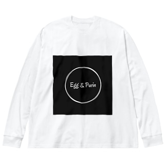 エグプリちゃん③ Big silhouette long sleeve T-shirts