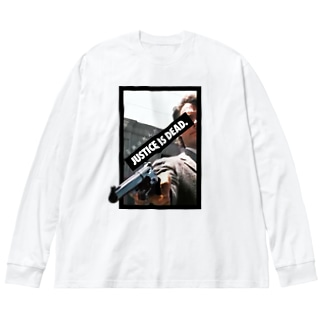 正義は死んだ Big silhouette long sleeve T-shirts