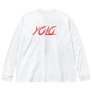 人生1度きり3 Big silhouette long sleeve T-shirts