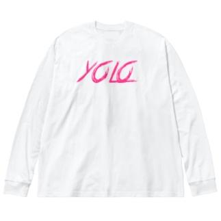 人生1度きり4 Big silhouette long sleeve T-shirts