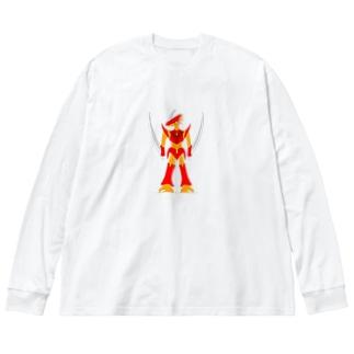 シュヴァルツァドラゴン Big silhouette long sleeve T-shirts