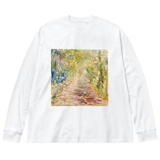 光の通り道 Big silhouette long sleeve T-shirts