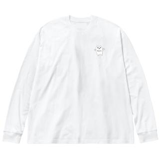 やまねこ Big silhouette long sleeve T-shirts