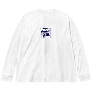 カメラCG Big silhouette long sleeve T-shirts