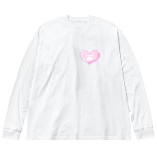 【にゃんにゃん】 Big Silhouette Long Sleeve T-Shirt
