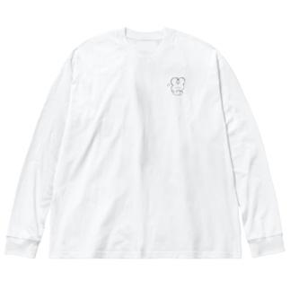 おとぼけちびちゃん Big silhouette long sleeve T-shirts