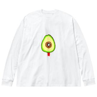 killed fruits~avocado〜死因:銃殺 Big silhouette long sleeve T-shirts