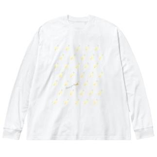 CYB pattern Big silhouette long sleeve T-shirts