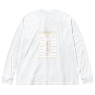 2021年カレンダー Big silhouette long sleeve T-shirts