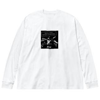 フロートライダーさん Big silhouette long sleeve T-shirts