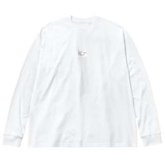 わんわんわん Big silhouette long sleeve T-shirts