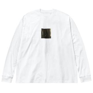 満月と光 Big silhouette long sleeve T-shirts