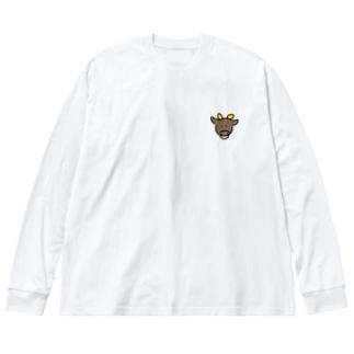 牛 Big silhouette long sleeve T-shirts
