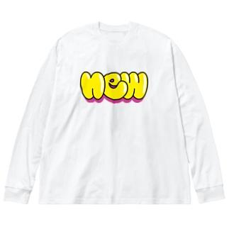 アタラシイ Big silhouette long sleeve T-shirts