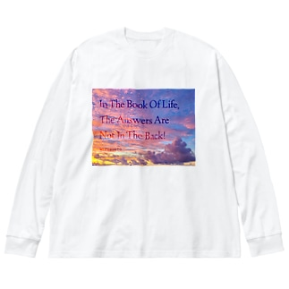 偉人の名言×OKINAWA Big silhouette long sleeve T-shirts
