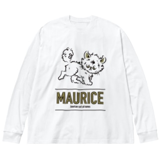 アメリカンカールのモーリス Big silhouette long sleeve T-shirts