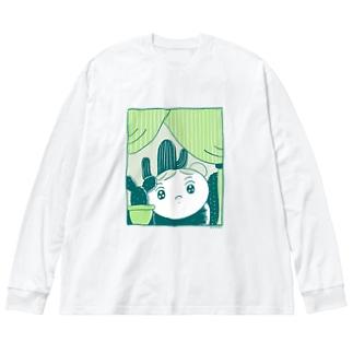 Plants Big silhouette long sleeve T-shirts