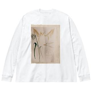 drawing Big silhouette long sleeve T-shirts
