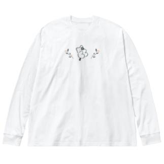 みかたきなこの浮遊 Big silhouette long sleeve T-shirts