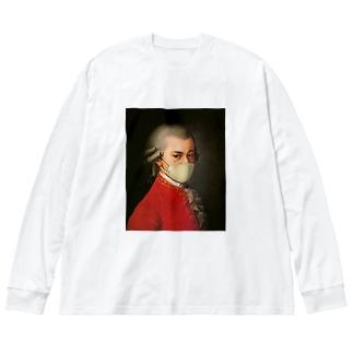 マスク モーツァルト Mozart Big silhouette long sleeve T-shirts