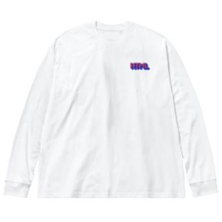 HTML dot Big silhouette long sleeve T-shirts