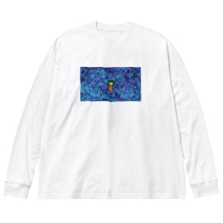 じゃんぐるもじゃもじゃ Big silhouette long sleeve T-shirts