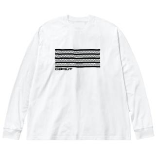 TURBO (Black logo) Big silhouette long sleeve T-shirts