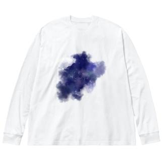 夜に降下するブリッジ Big silhouette long sleeve T-shirts