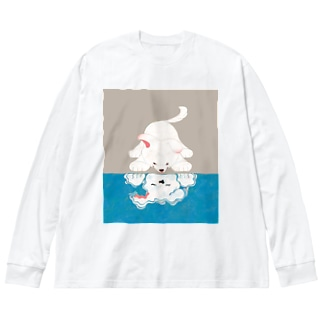 知らない誰かさん Big silhouette long sleeve T-shirts