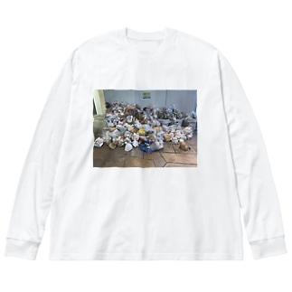 センパのゴミ Big silhouette long sleeve T-shirts