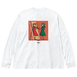 仕上げのワンプッシュ Big silhouette long sleeve T-shirts