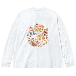 SOFTFLOWER~お菓子作り~ Big silhouette long sleeve T-shirts