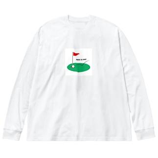 ゴルフ Big silhouette long sleeve T-shirts