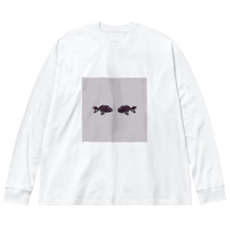 水槽の反射 Big silhouette long sleeve T-shirts