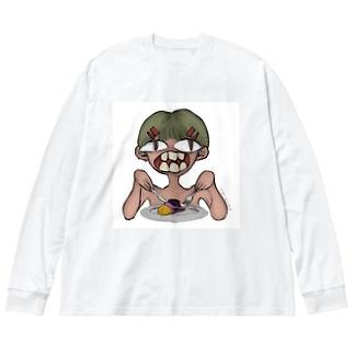 カニバリズムびっぐてぃーすさん Big silhouette long sleeve T-shirts