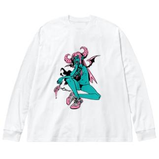 ロックT ROCK'N PUNK - 悪魔ちゃん スニーカー Big silhouette long sleeve T-shirts
